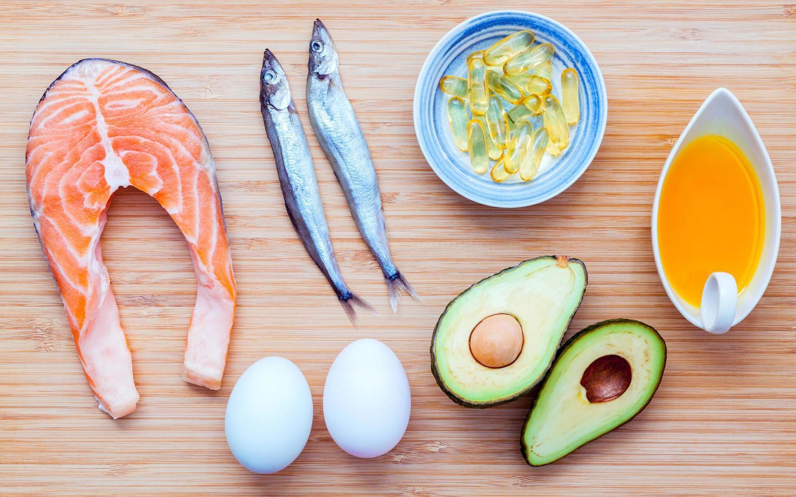 Healthy food items photo