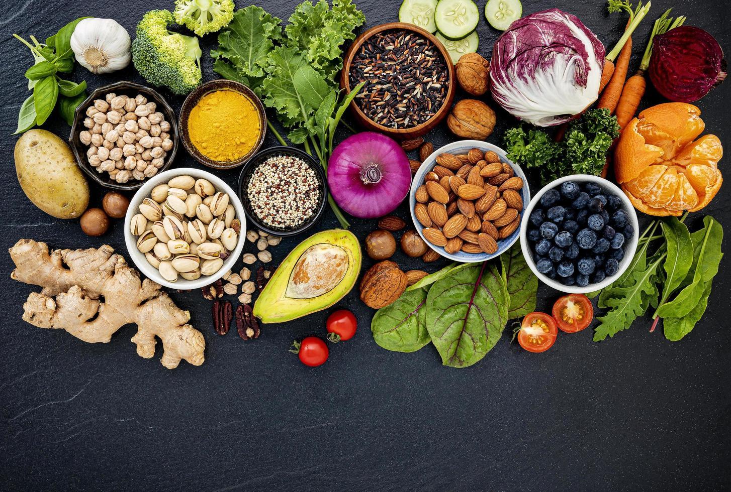 ingredientes frescos orgánicos foto