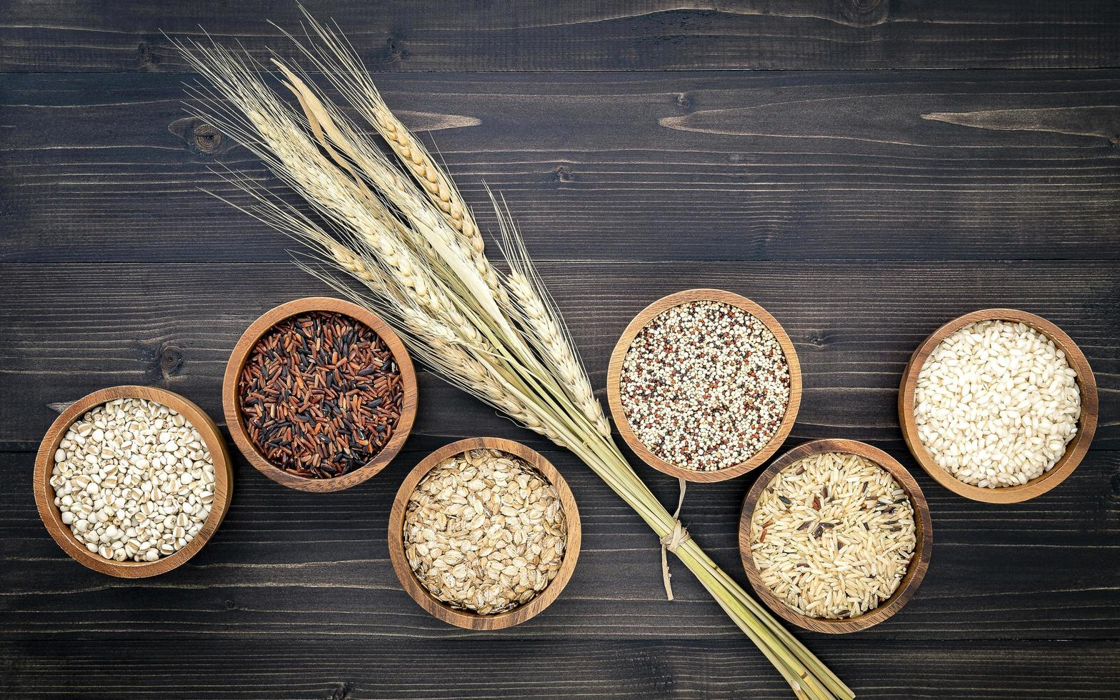 Grains in bowls photo