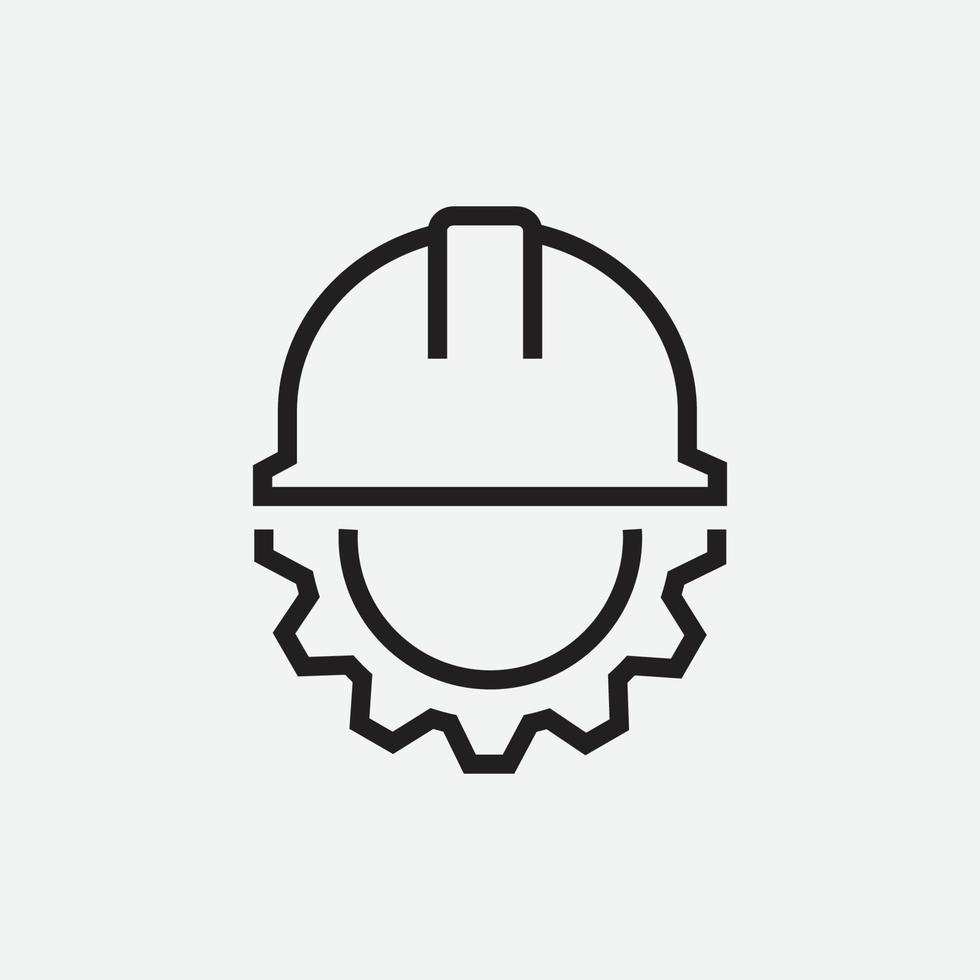 Ilustración vectorial de icono de ingeniero con rueda dentada vector