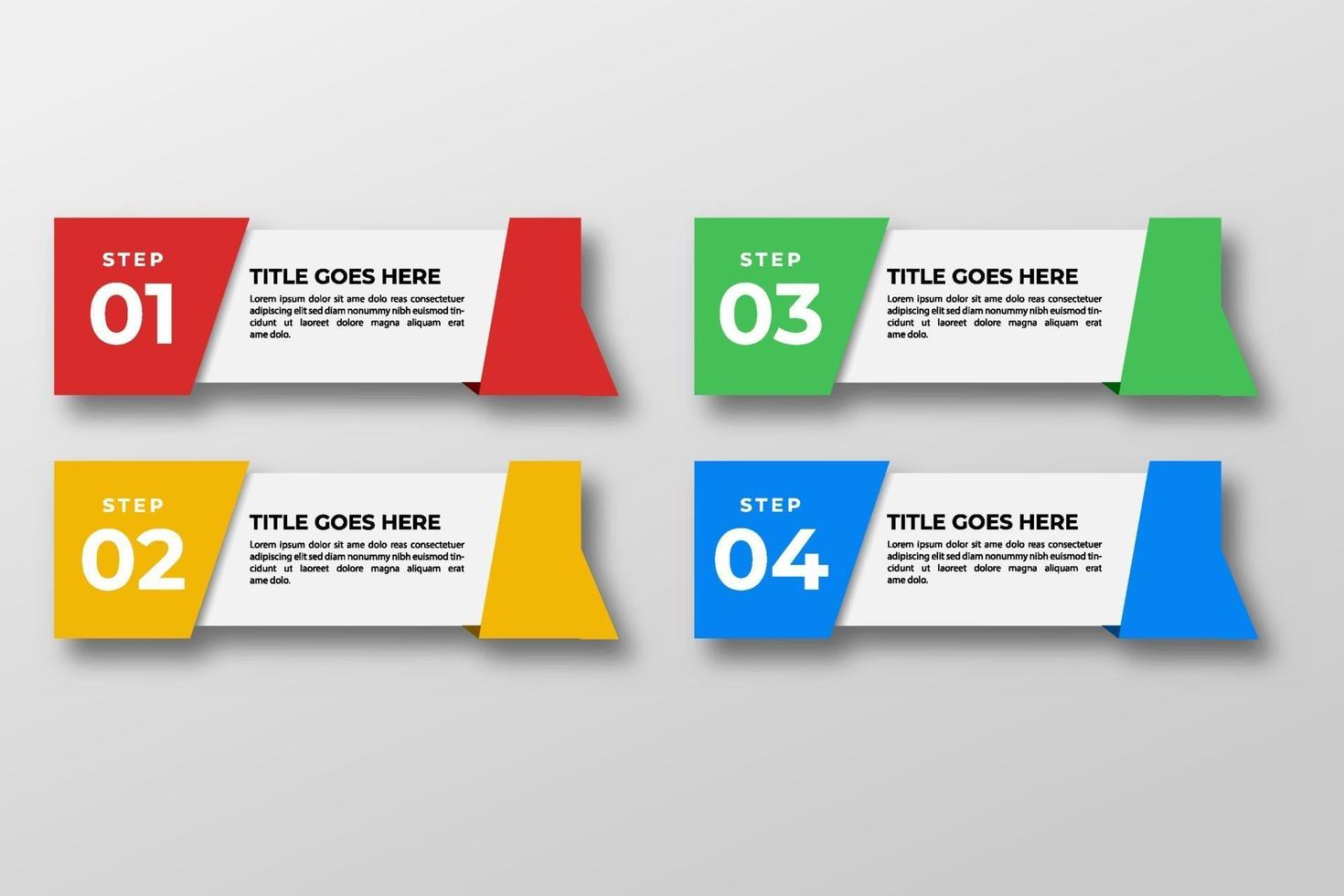 presentación plantilla de elemento de infografía empresarial. ilustración vectorial. se puede utilizar para procesos, presentaciones, diseño, banner, gráfico de información. vector