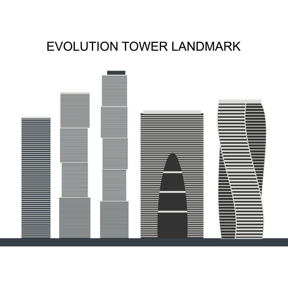 torre de la evolución. centro de negocios internacional de moscú. su forma futurista de adn. . Moscú, Rusia vector