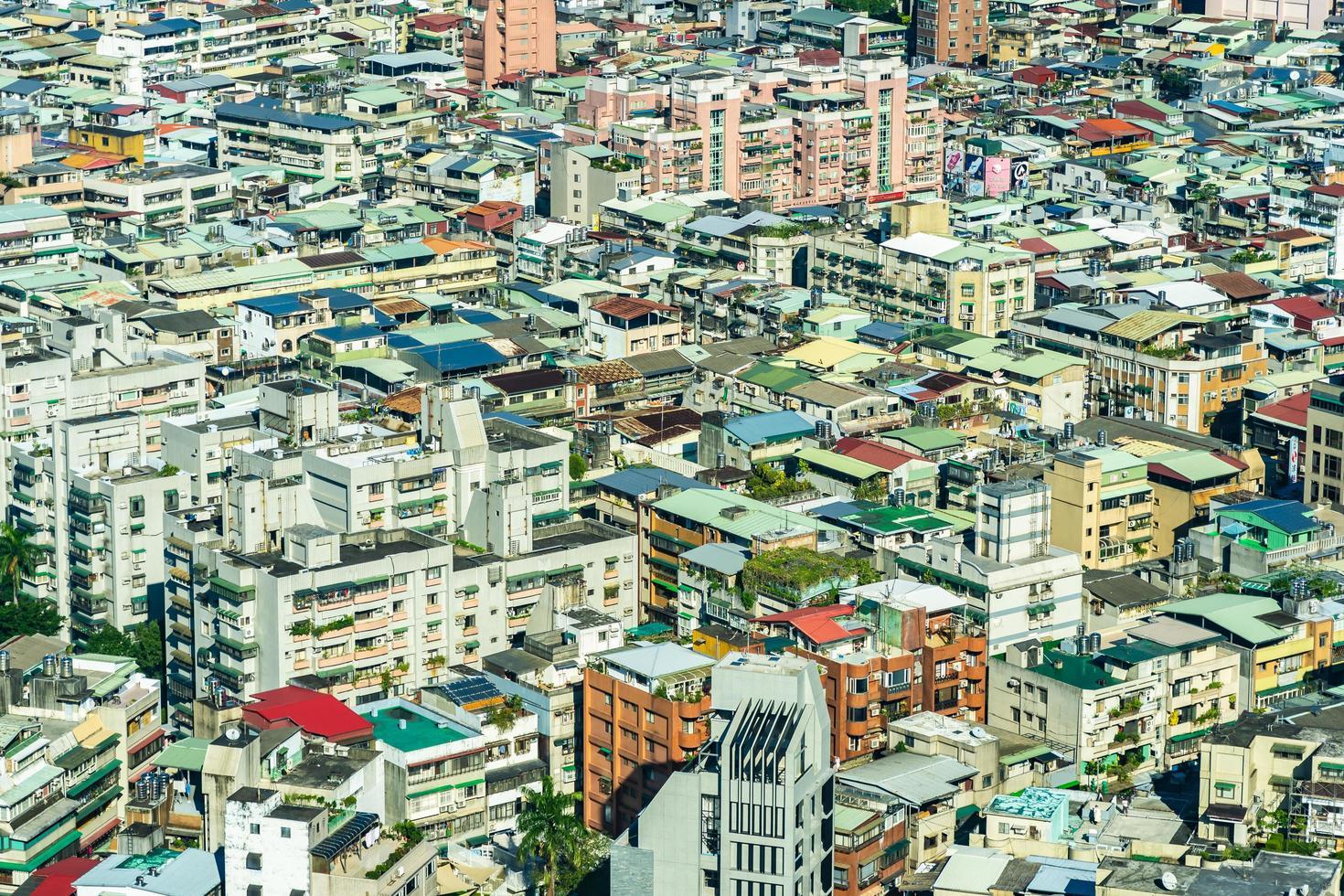 Cityscape of Taipei city in Taiwan photo