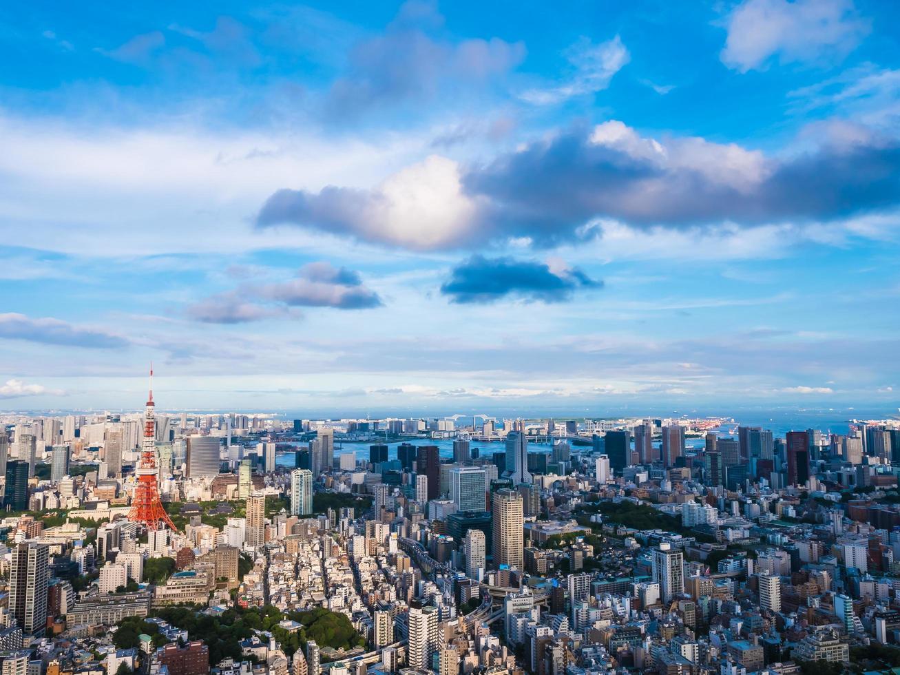 paisaje urbano de la ciudad de tokio en japón foto