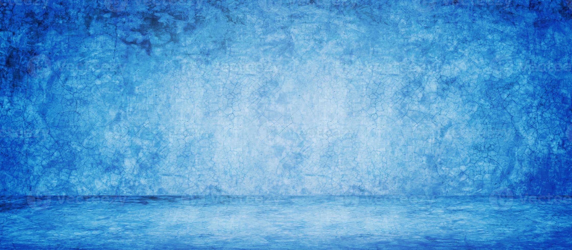 fondo de banner de estudio azul foto