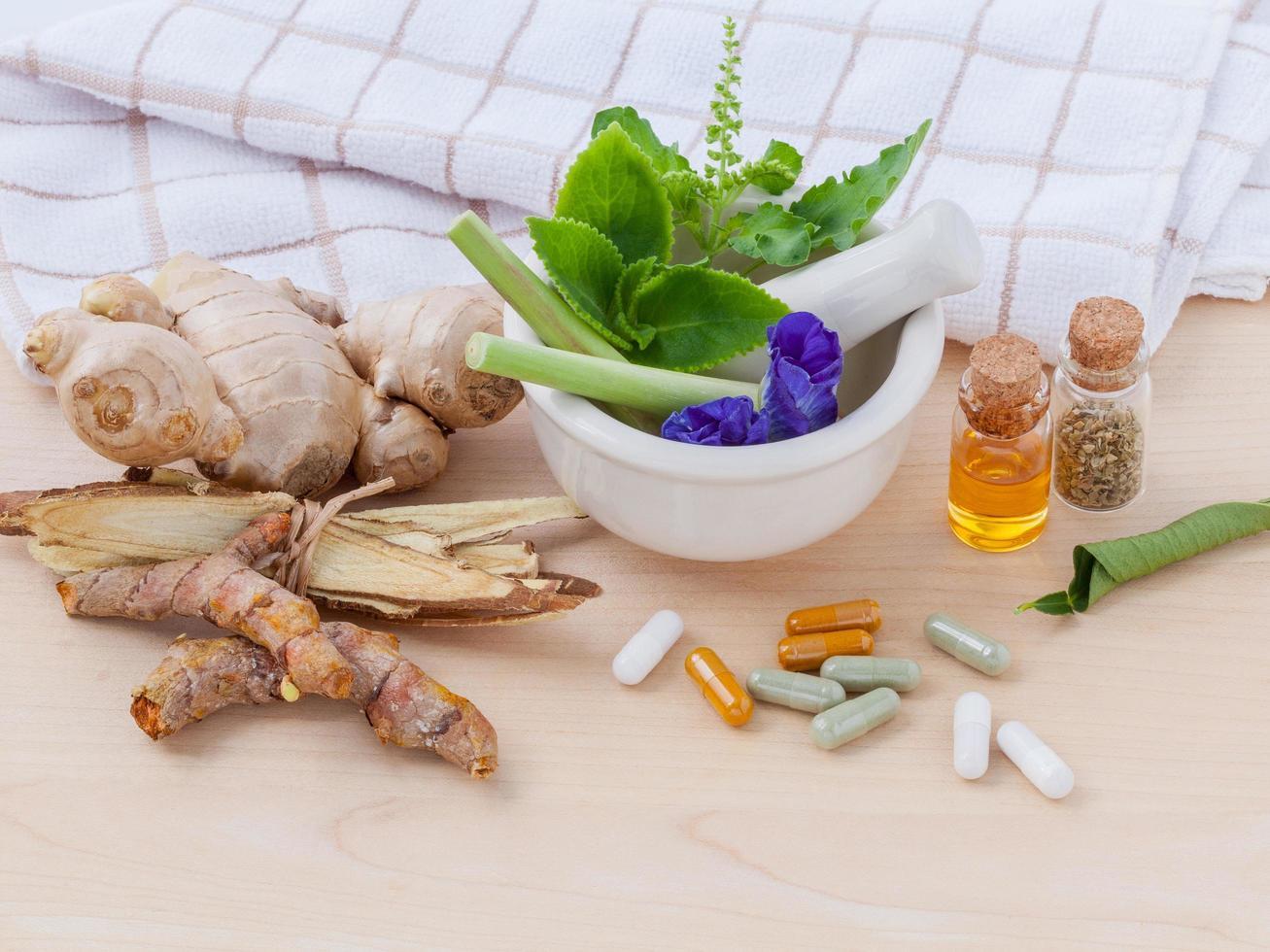 medicina de té de hierbas foto