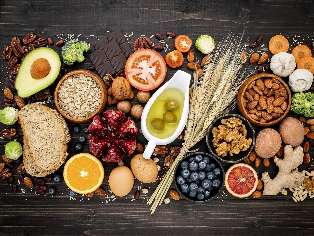 Group of healthy foods photo