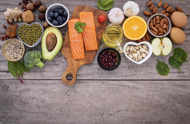 Fresh healthy ingredients photo