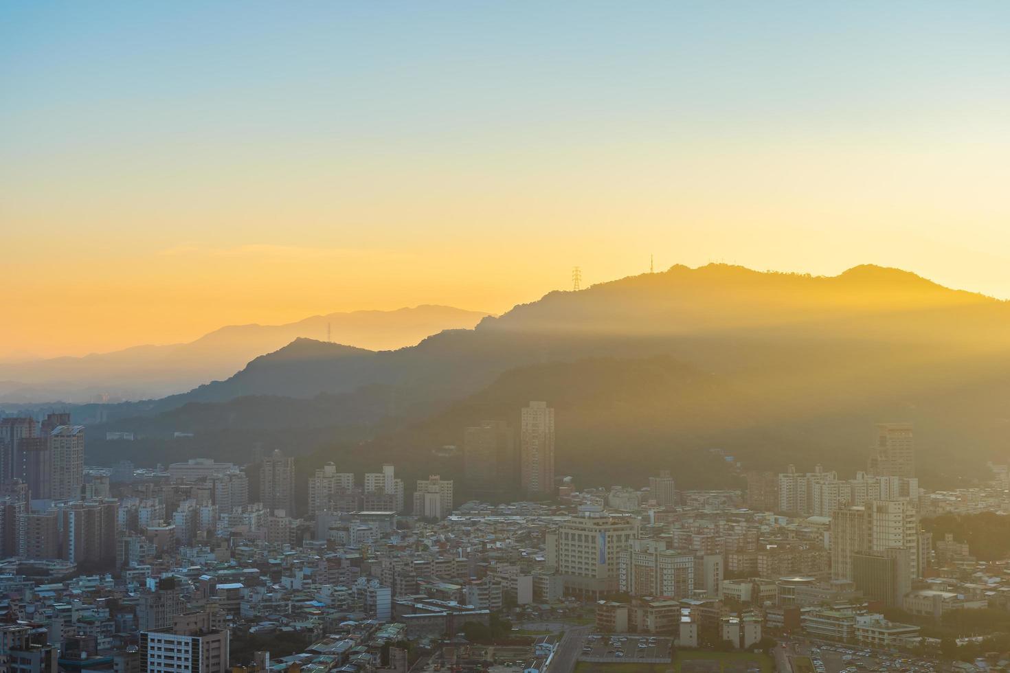 vista aérea, de, taipei, ciudad, taiwán foto