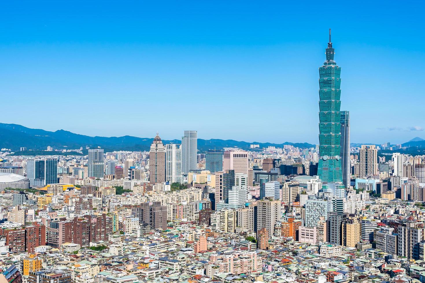 Torre Taipei 101 en la ciudad de Taipei, Taiwán foto
