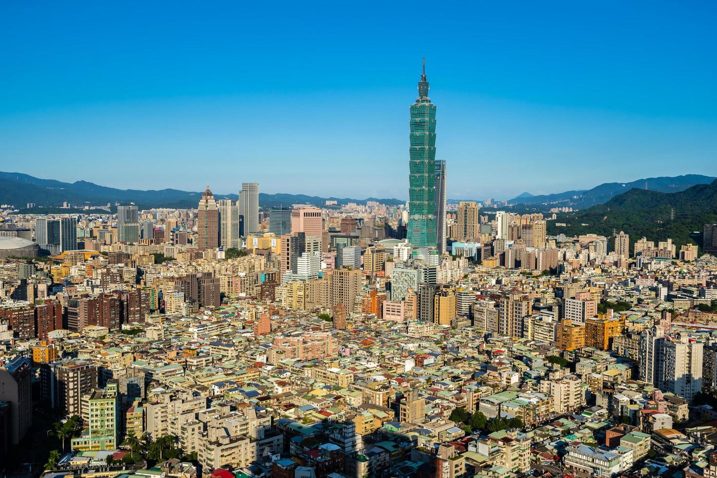 Taipei 101 tower in Taipei city, Taiwan photo
