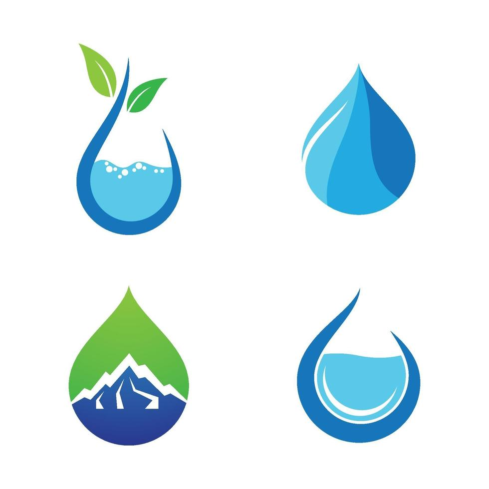 imagenes de gotas de agua vector