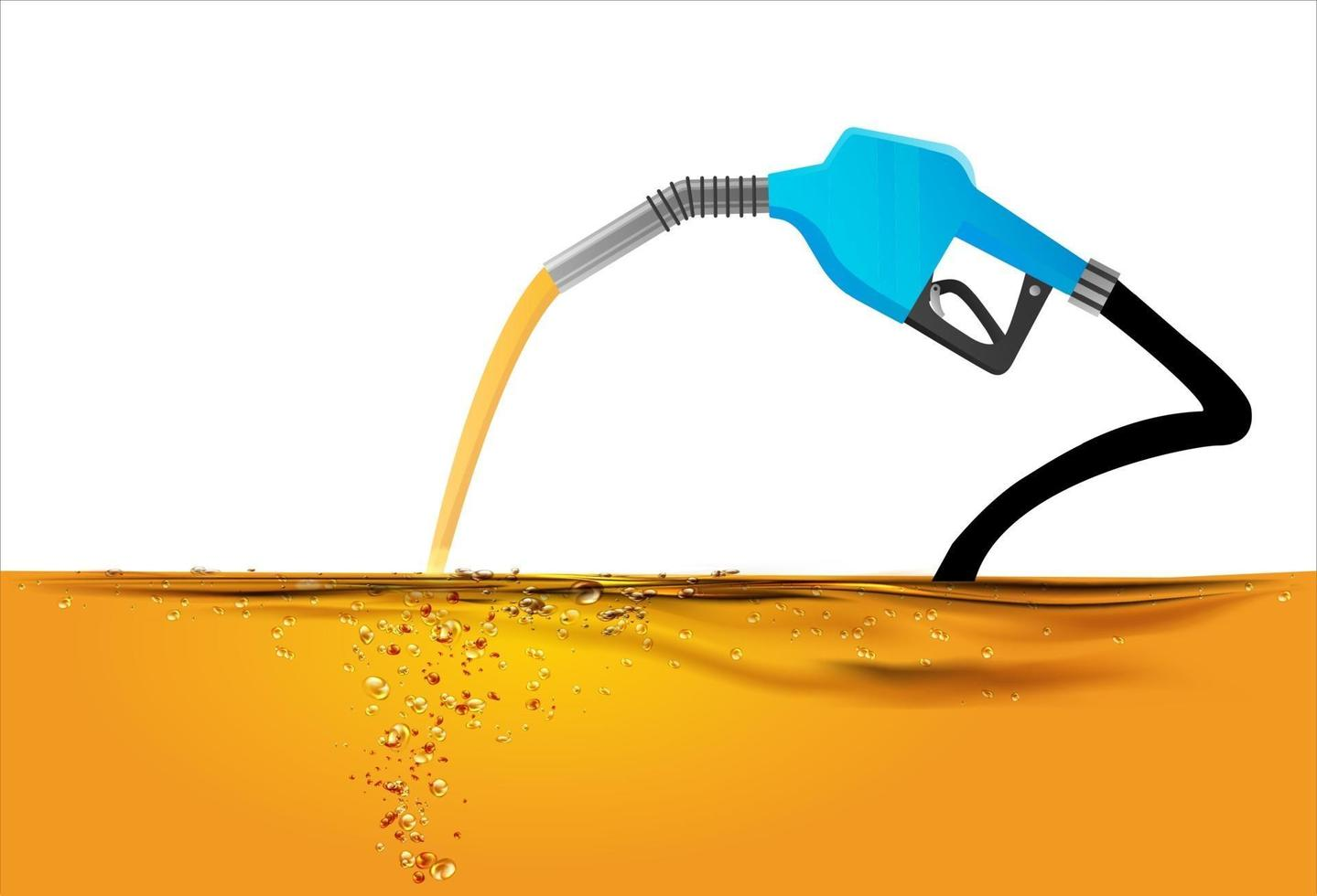 Nozzle pumping gasoline in a tank vector