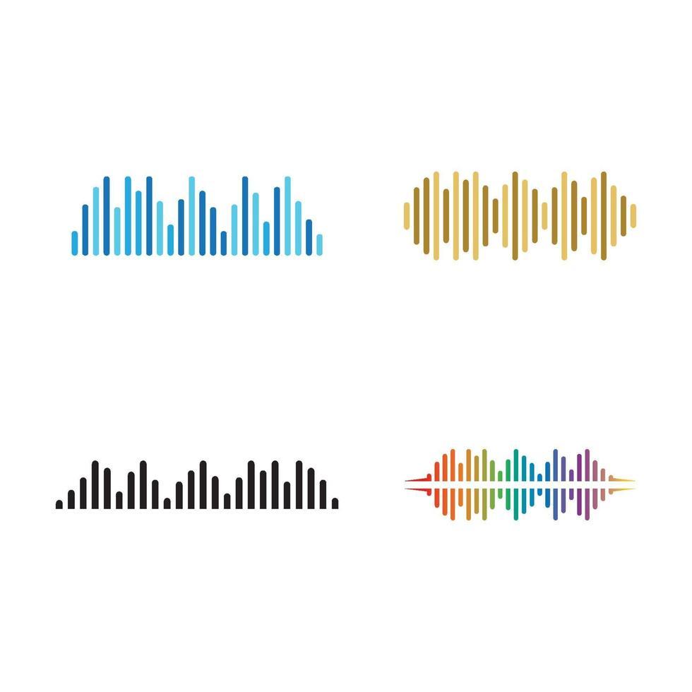 imagenes de ondas de sonido vector