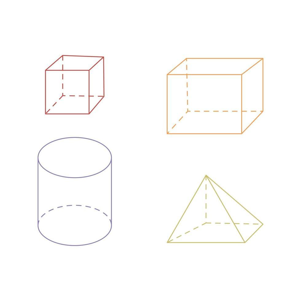 geometría dibujos animados doodle dibujado a mano concepto vector kawaii ilustración