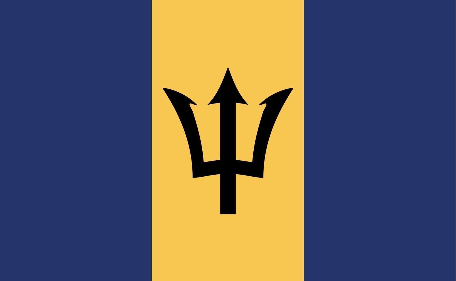 Bandera nacional de Barbados en proporciones exactas - ilustración vectorial vector