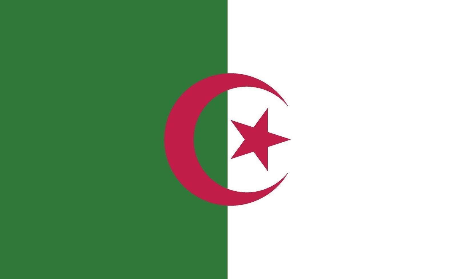 Bandera nacional de Argelia en proporciones exactas - ilustración vectorial vector