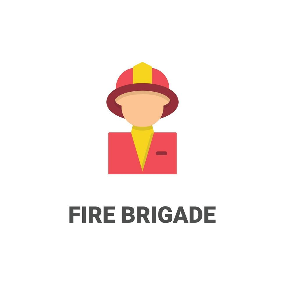 Avatar icono de vector de bomberos de colección avatar. Ilustración de estilo plano, perfecta para su sitio web, aplicación, proyecto de impresión, etc.