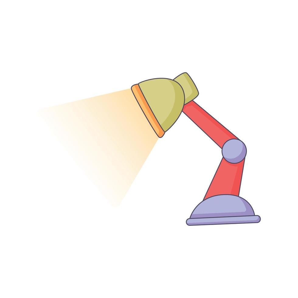 Lámpara de mesa de dibujos animados doodle dibujado a mano concepto vector kawaii ilustración
