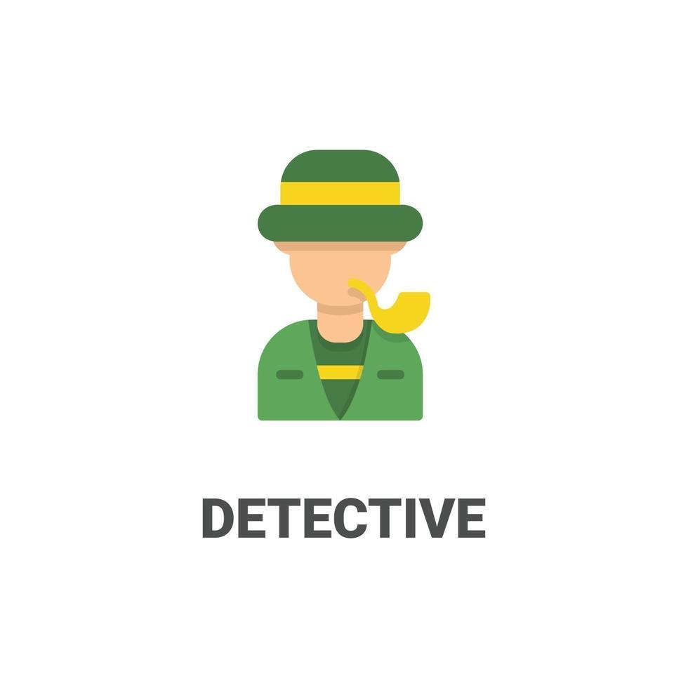 icono de vector de detective avatar de colección avatar. Ilustración de estilo plano, perfecta para su sitio web, aplicación, proyecto de impresión, etc.