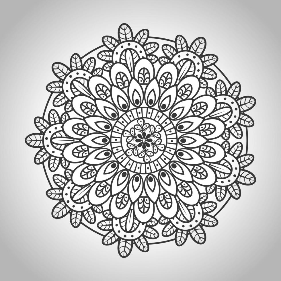 floral mandala, ornamental decoration vector