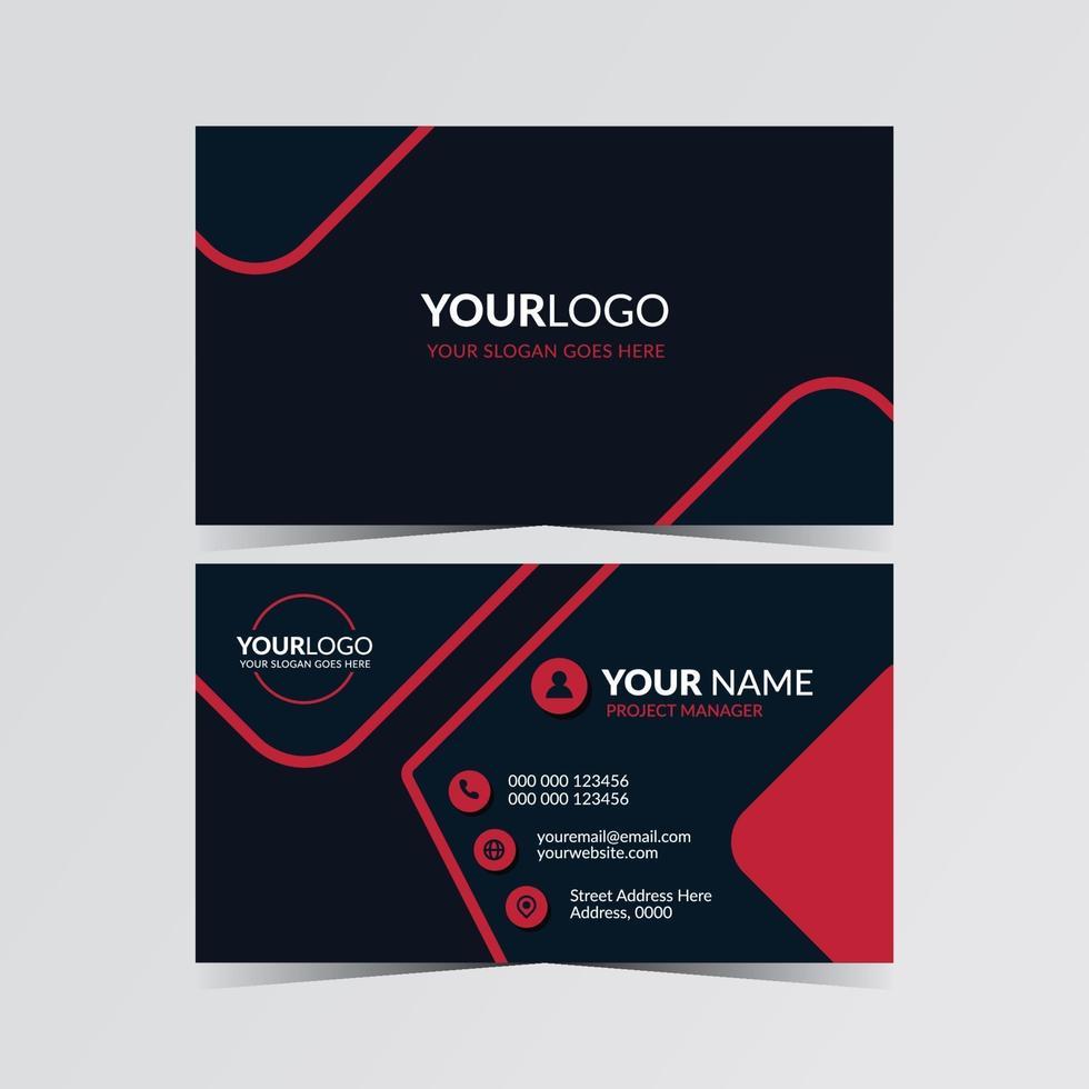 plantilla de tarjeta de visita moderna creativa vector