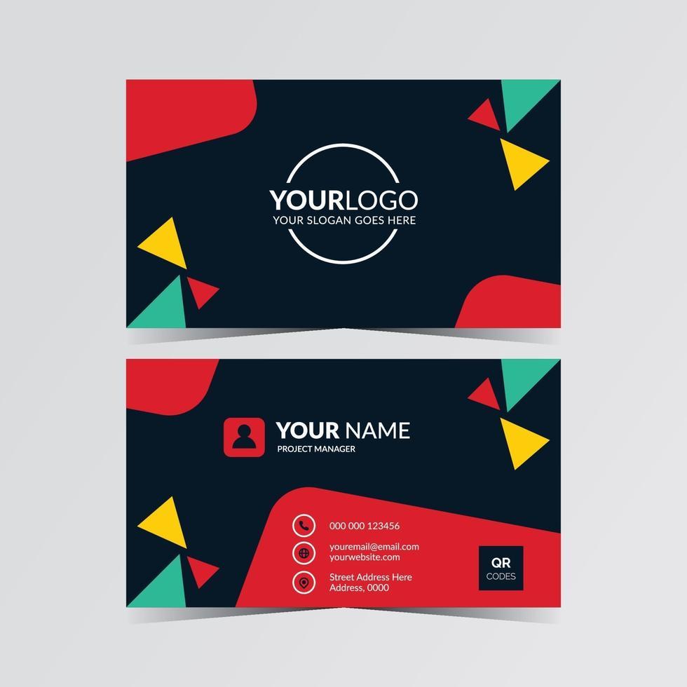 plantilla de tarjeta de visita editable vector
