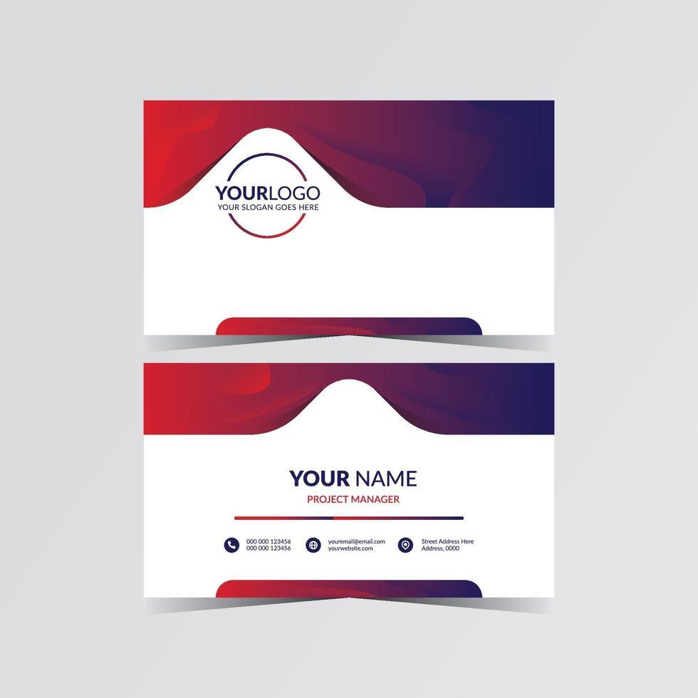 ilustración de diseño de tarjeta de visita moderna vector