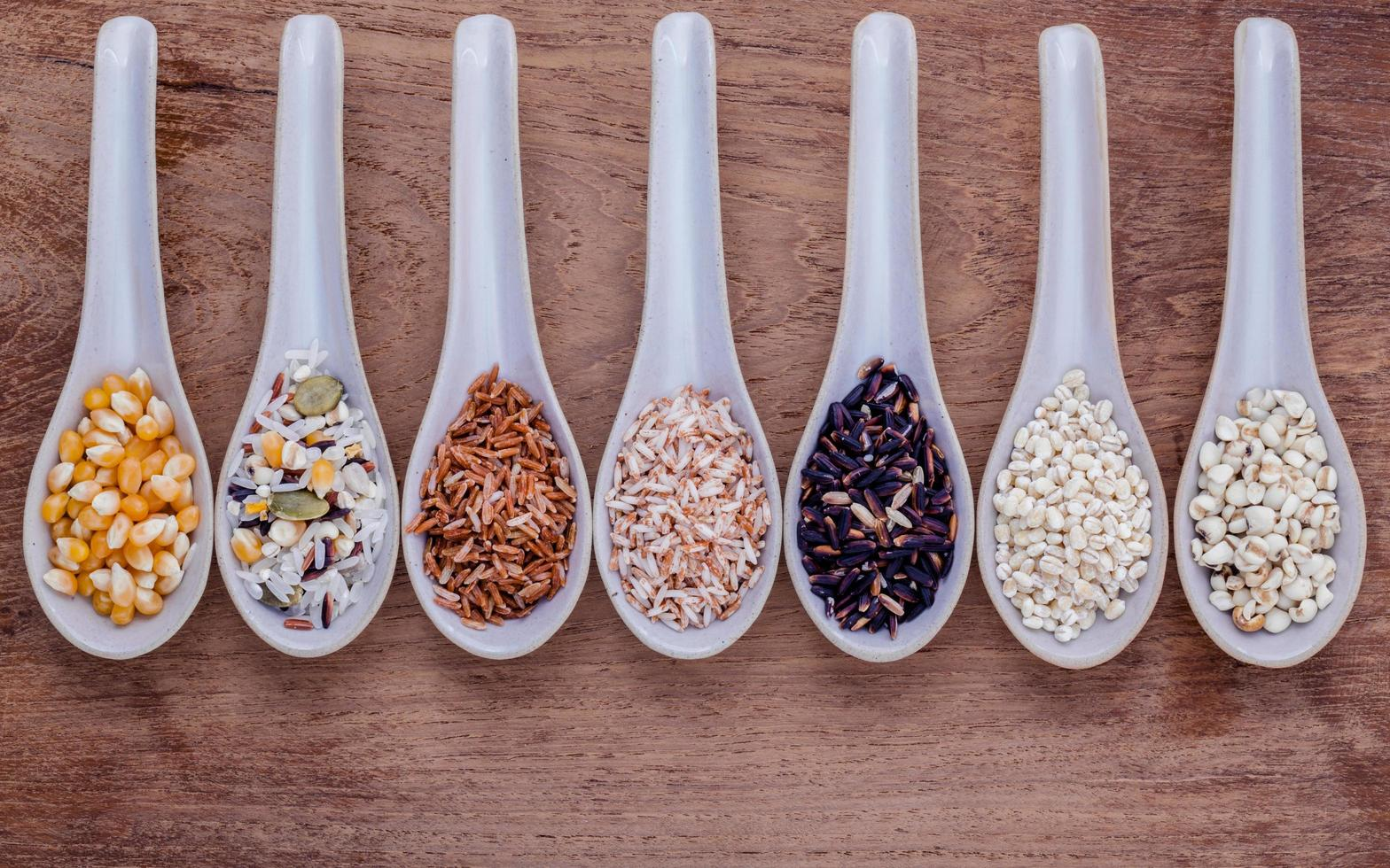 Spoons of grains photo