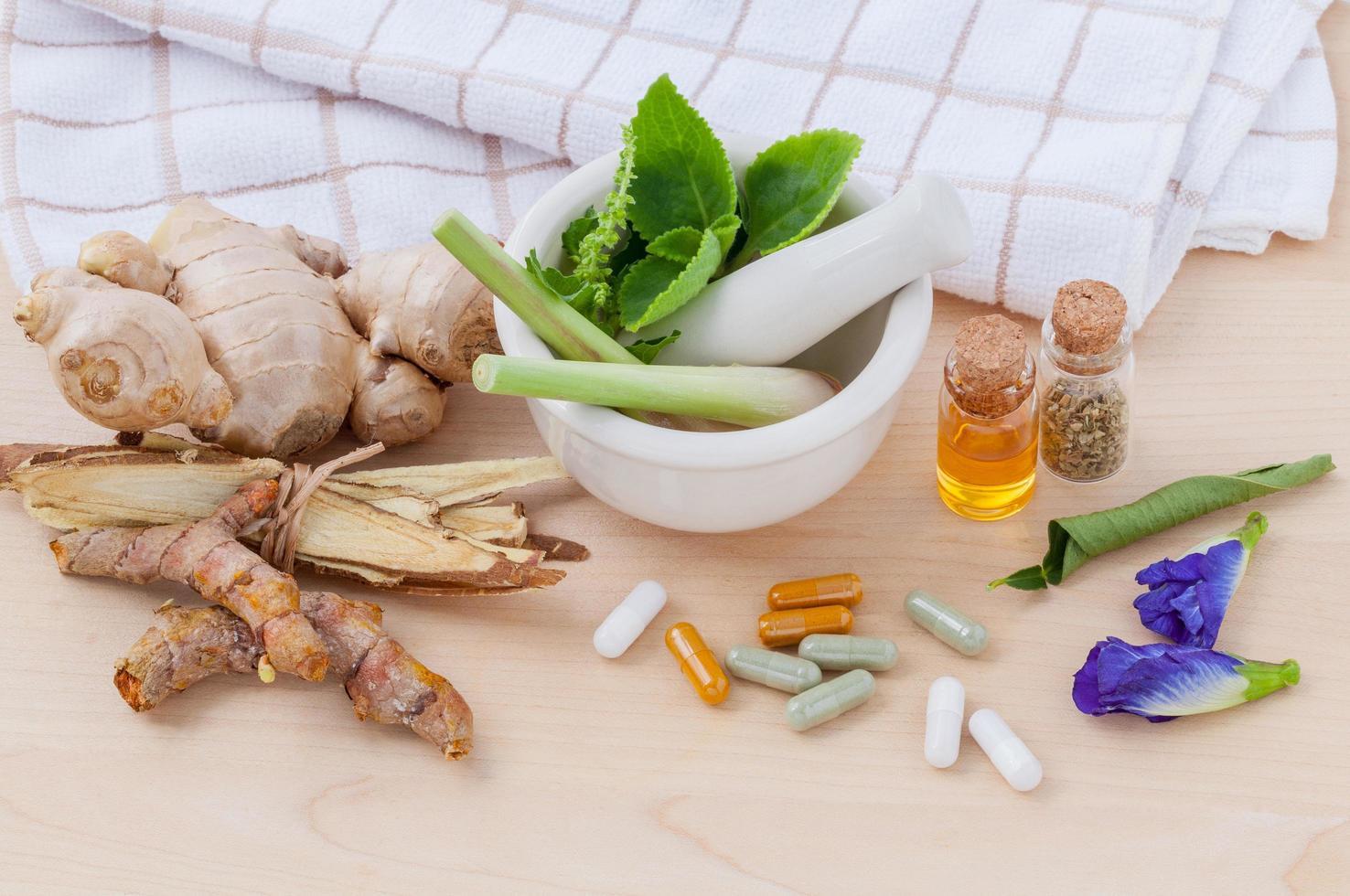 medicina herbal fresca foto