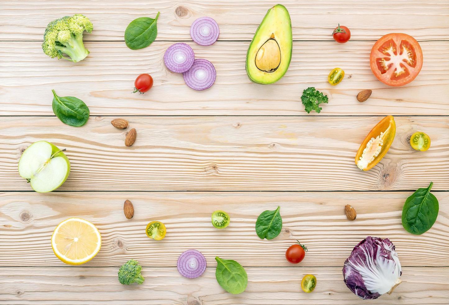Circle of fresh ingredients photo