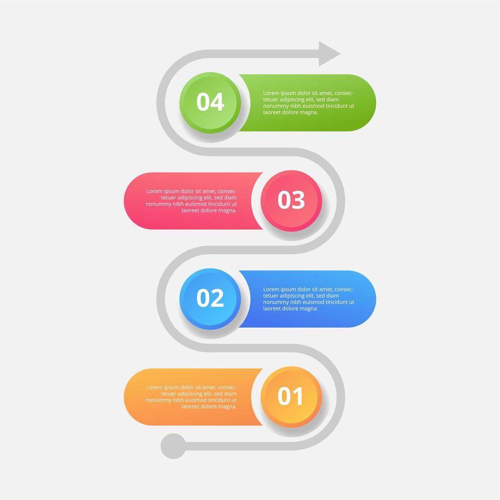 elementos de diseño de infografía de línea de tiempo. diseño infográfico moderno vector