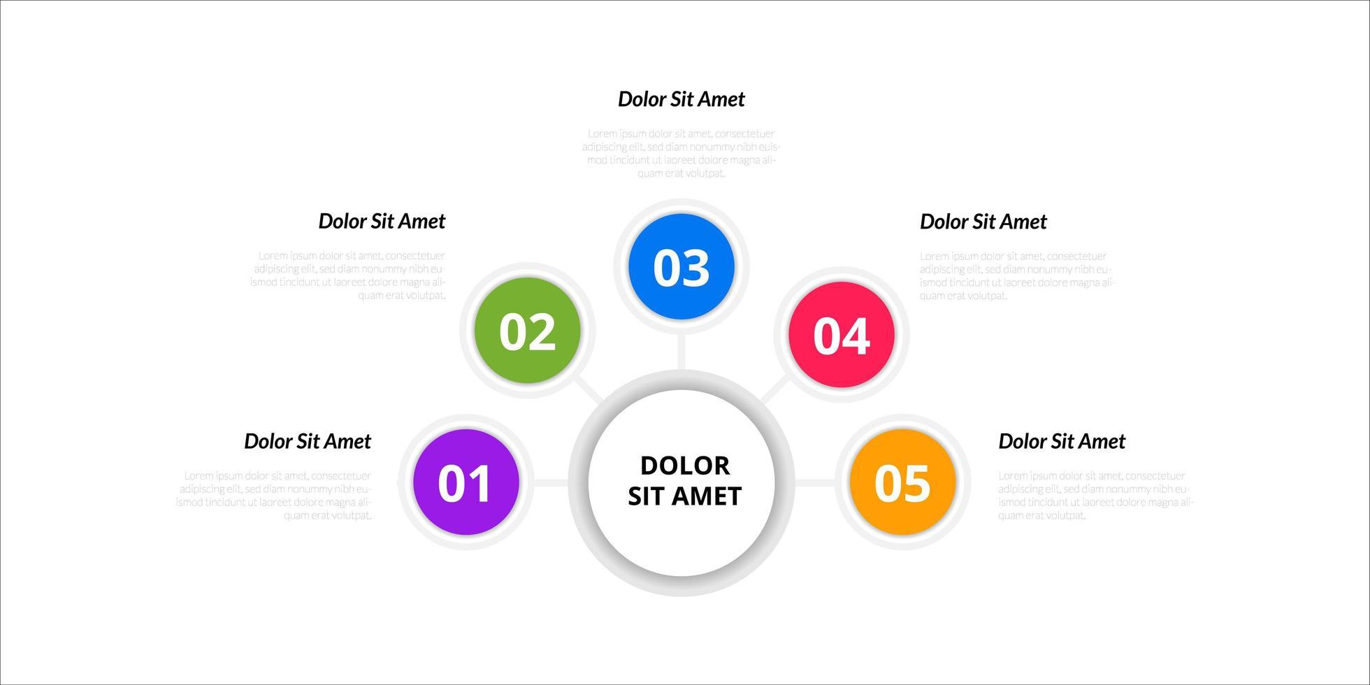 elementos de diseño de infografía vectorial. número de opción diseño infográfico de flujo de trabajo vector