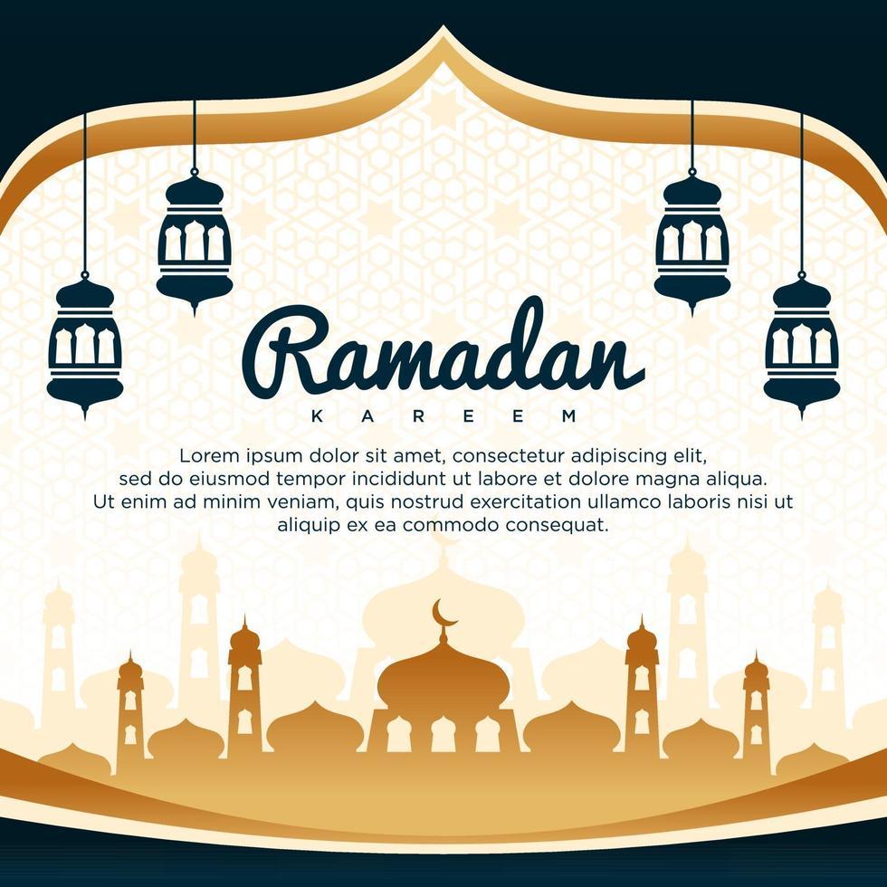 fondo de vector de ramadan kareem