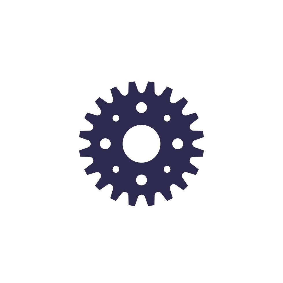 sprocket icon on white, vector.eps vector
