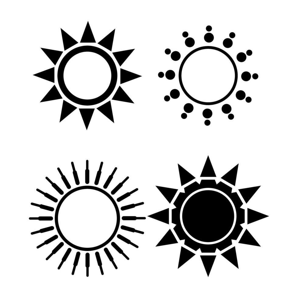 puesta de sol sobre fondo blanco vector
