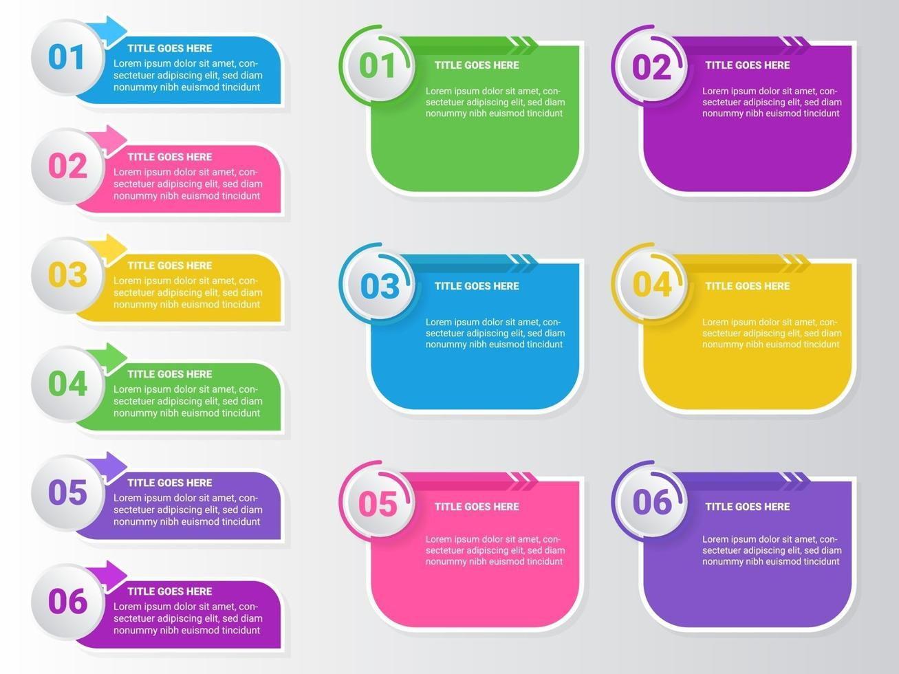 infographics options number workflow template design vector