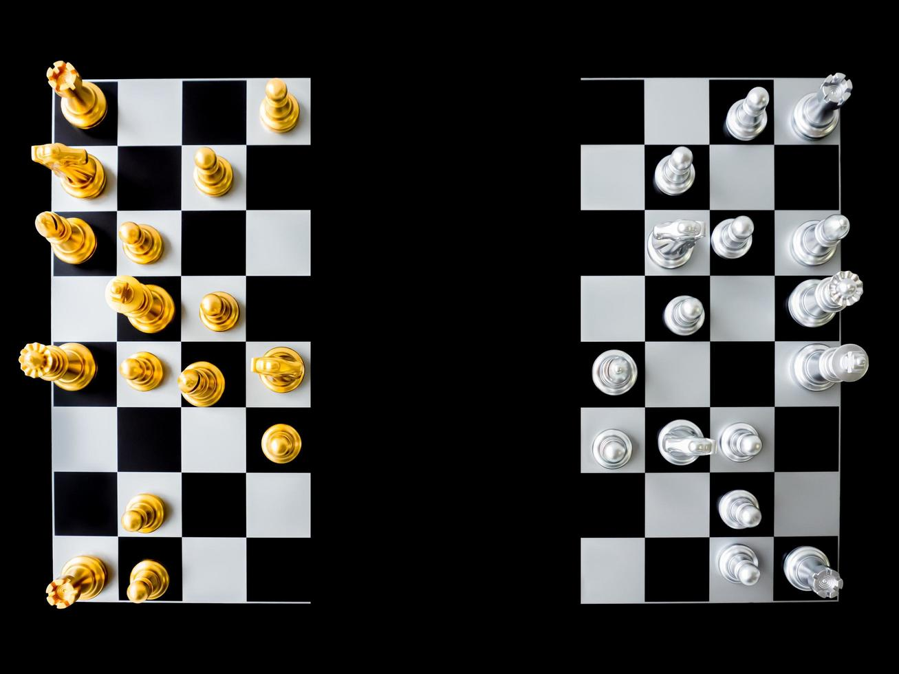 Top view of a chessboard photo