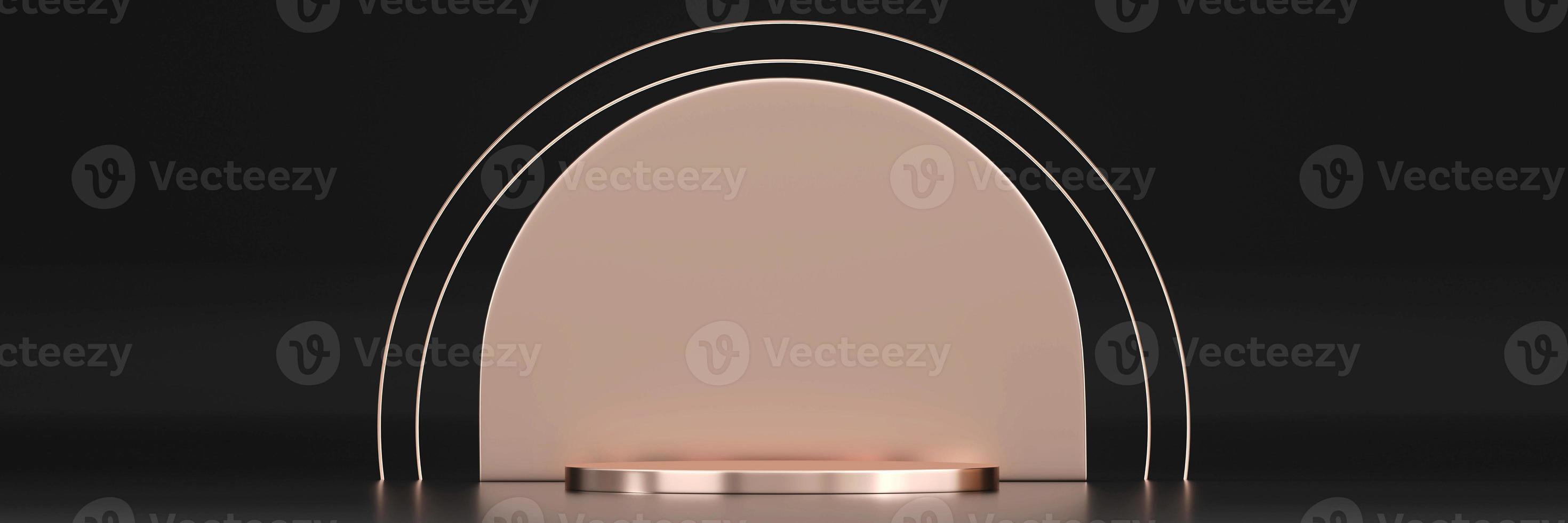 maqueta de plataforma de podio de escenario para exhibición de productos foto