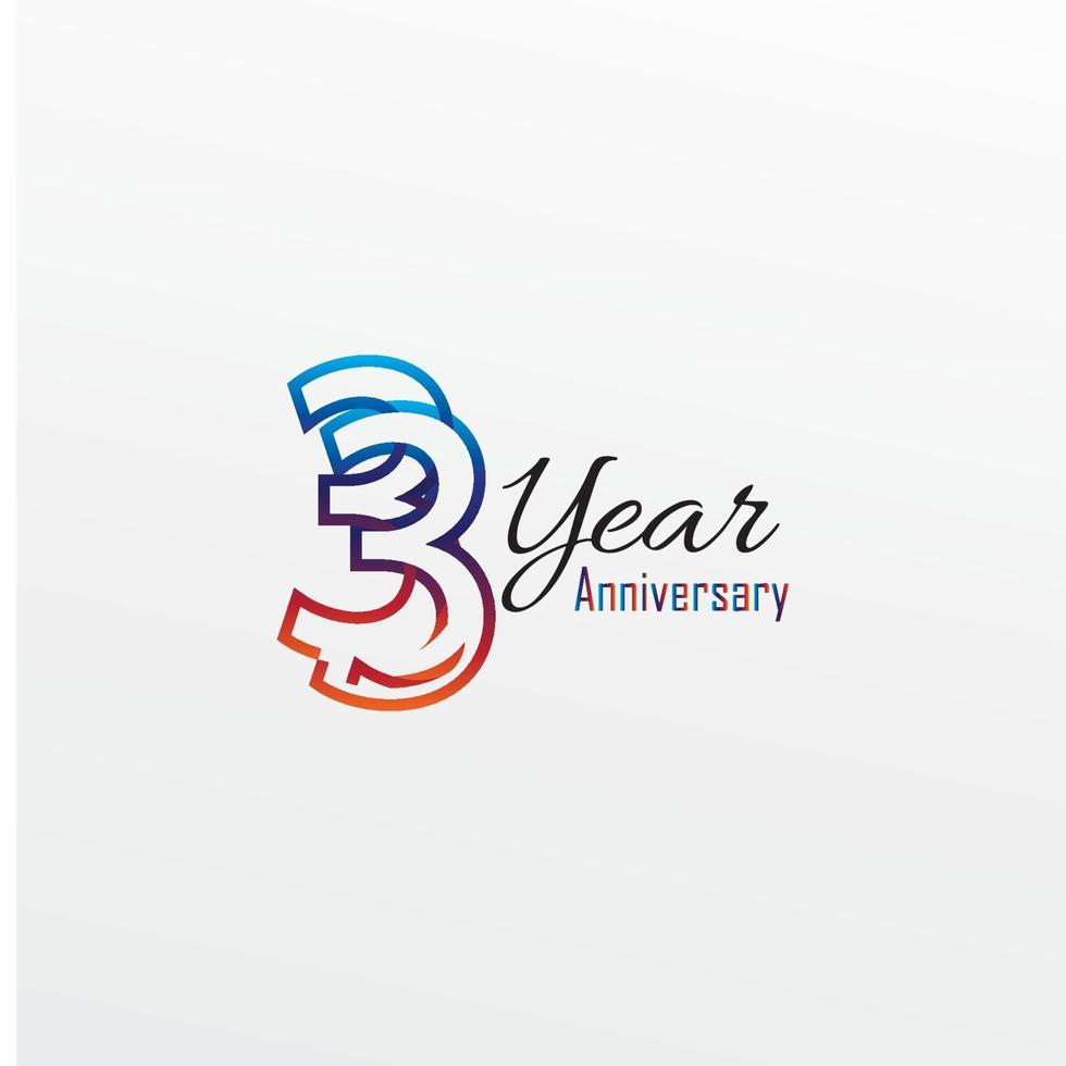 years anniversary celebration blue Colors Comical Design logotype. anniversary logo isolated on White background vector