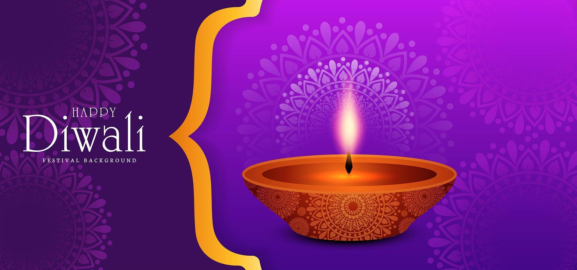 Fondo de tarjeta de felicitación de celebración feliz diwali vector