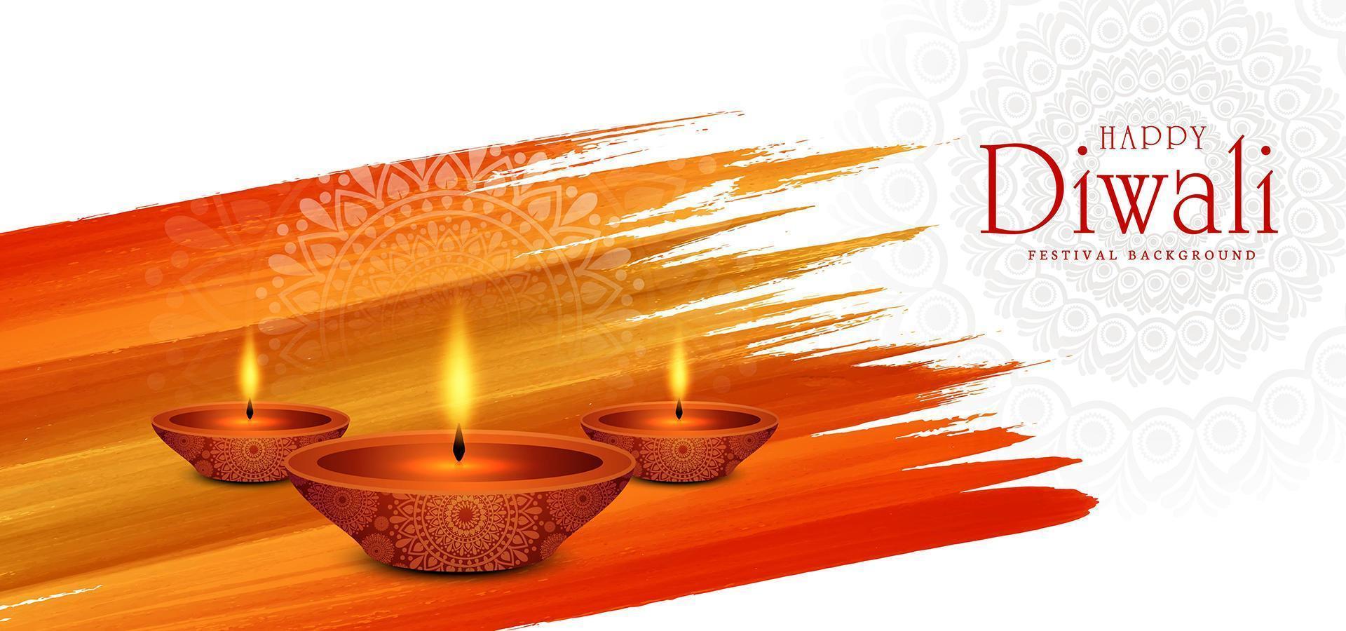 fondo de festival de diwali de lámpara iluminada iluminada creativa vector