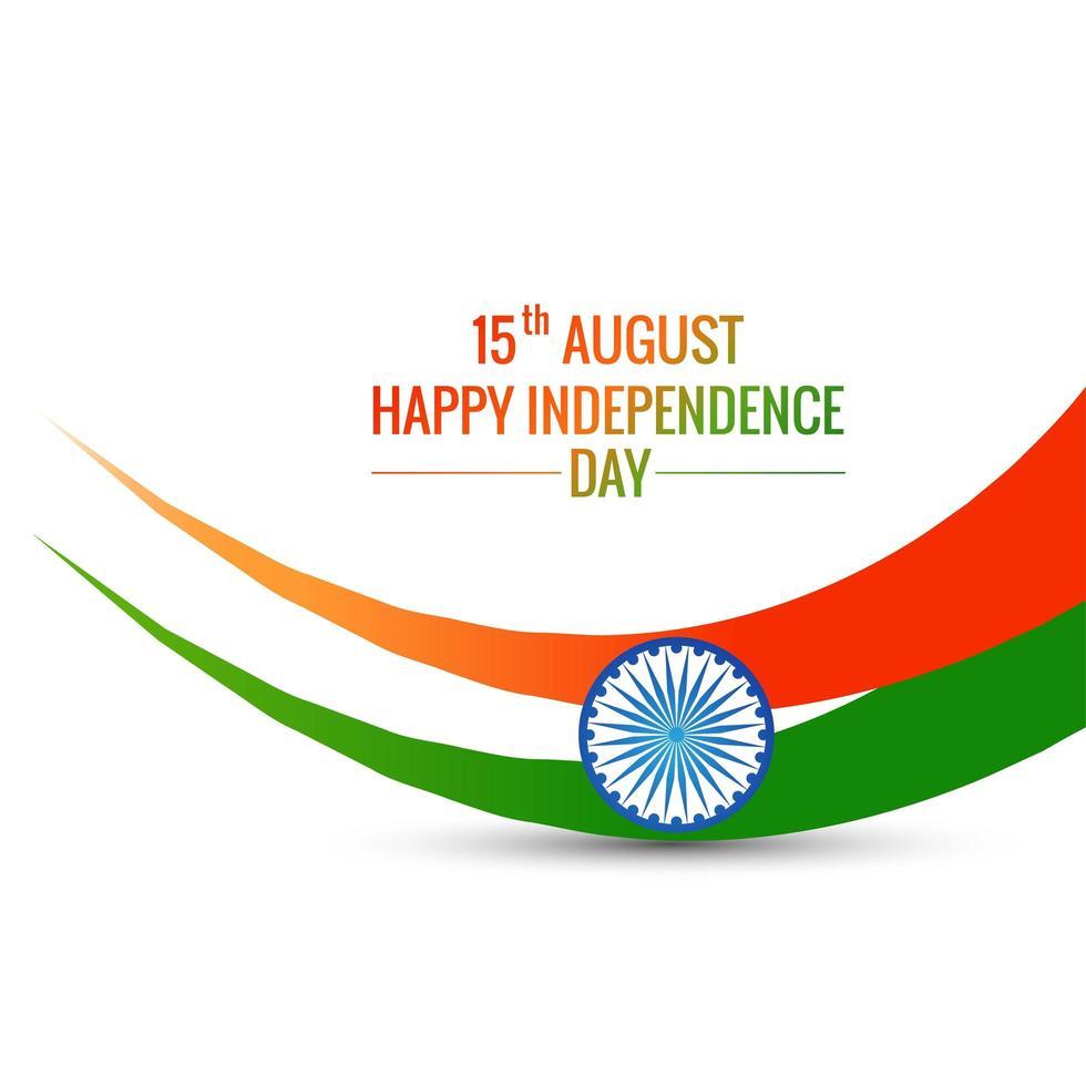 bandera india elegante vector de onda tricolor