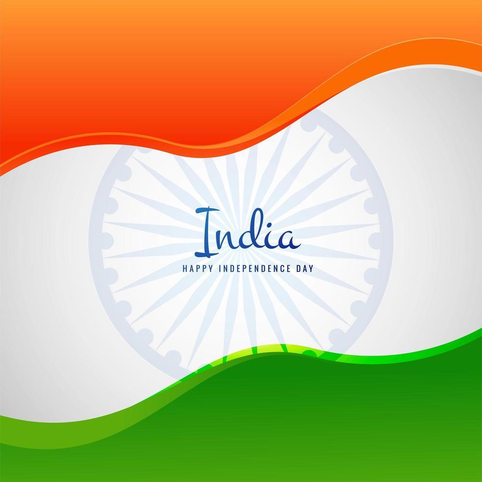 vector de fondo de onda de bandera india