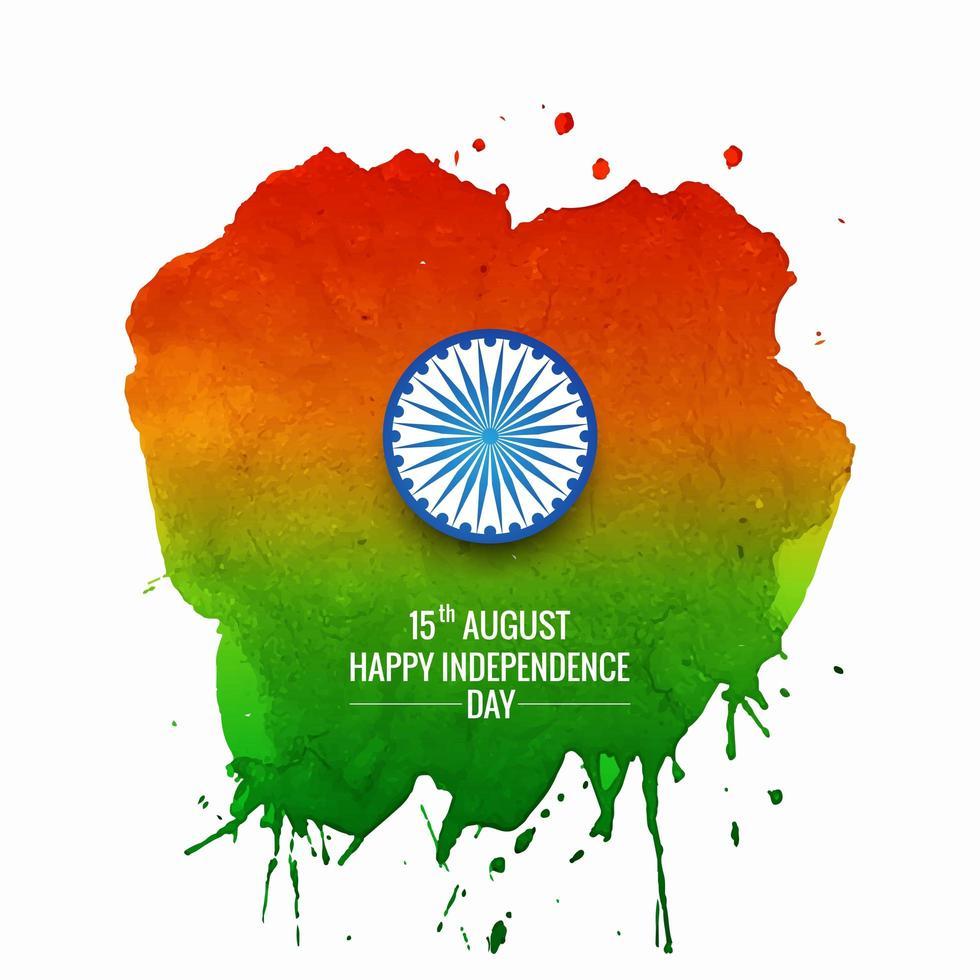 Ilustración del día de la independencia de la india con diseño de acuarela vector