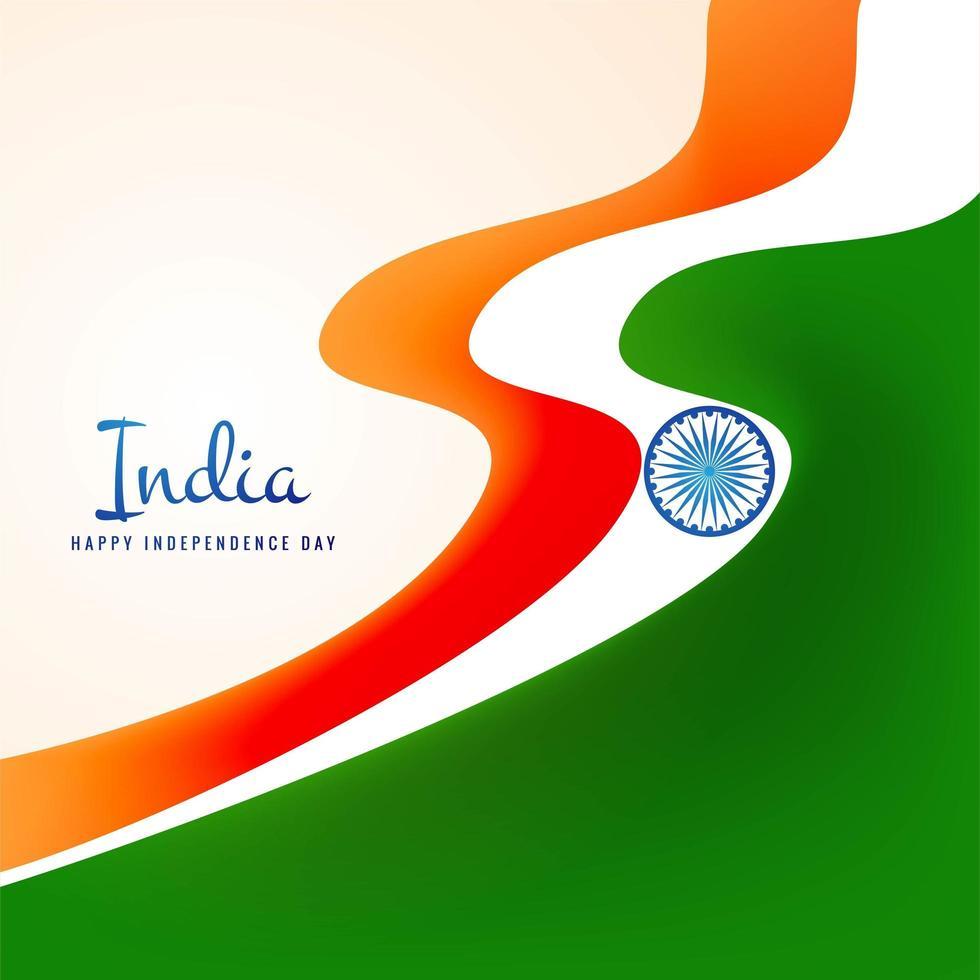 vector de festival de onda de bandera india con estilo moderno