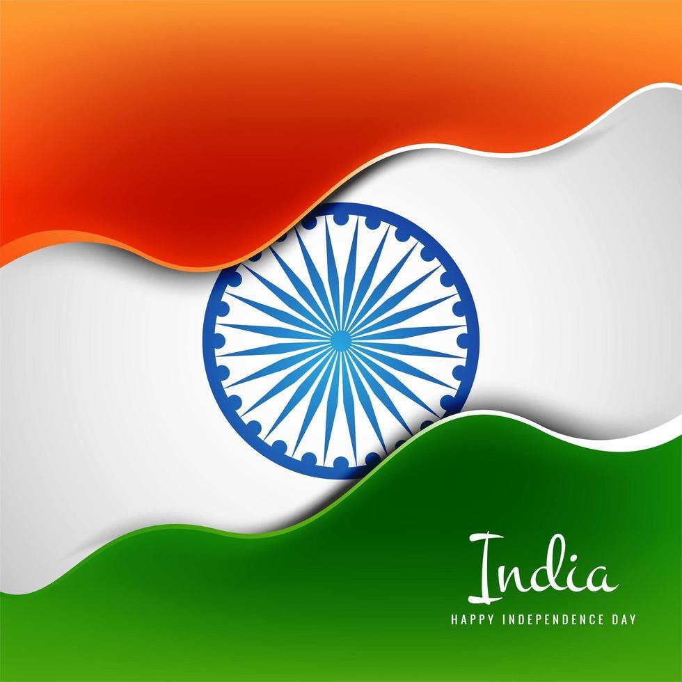 vector creativo del concepto del día de la independencia india