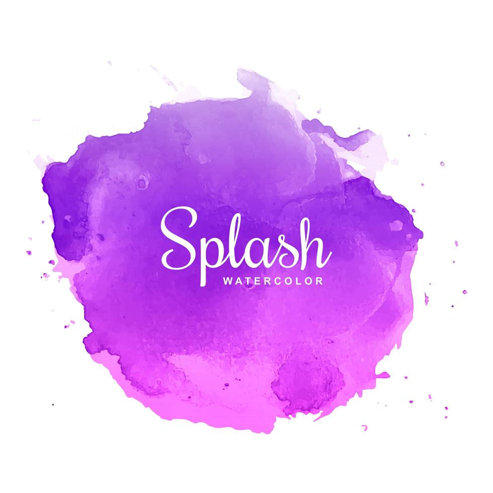 vector de acuarela splash multicolor
