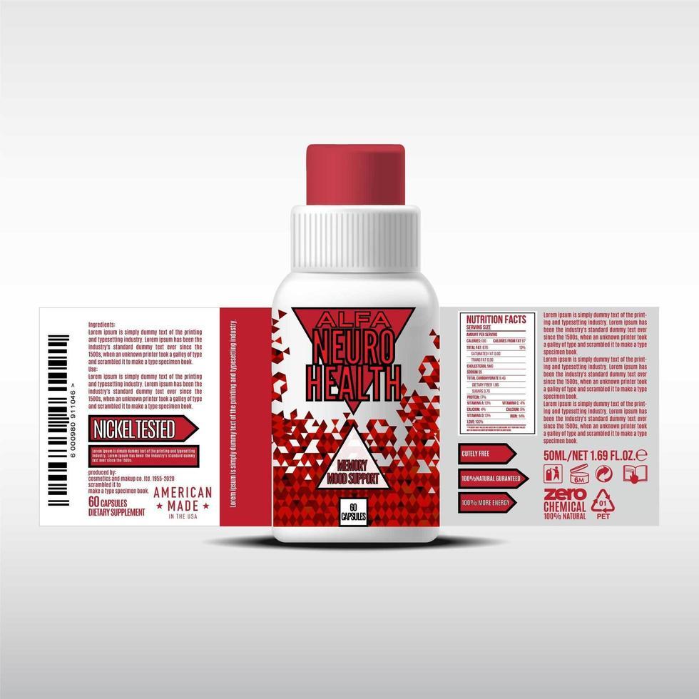 diseño de etiqueta de botella, plantilla de diseño de empaque, diseño de etiqueta, plantilla de vector libre de etiqueta de diseño simulado