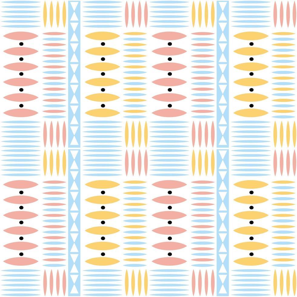 Fondo de patrón nativo multicolor transparente con forma geométrica vector